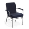 OFM Big and Tall Stack Chair with Arms, Navy